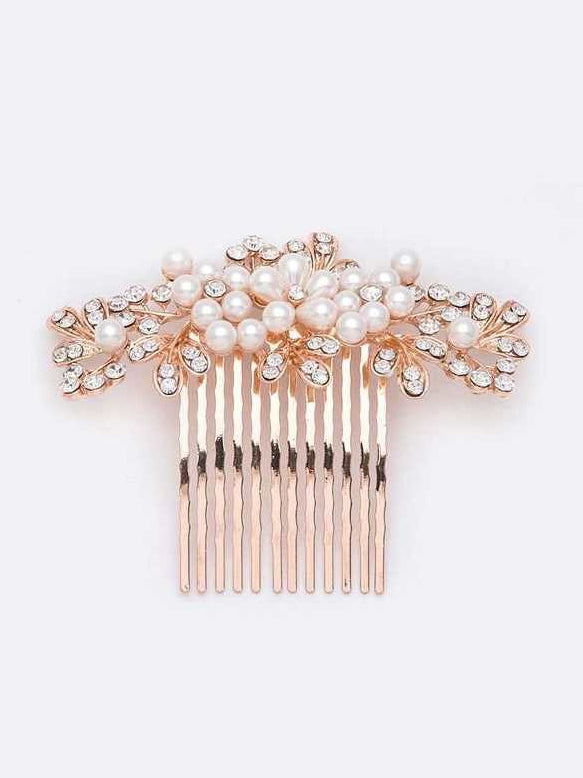 Pearl Accent Hair Comb