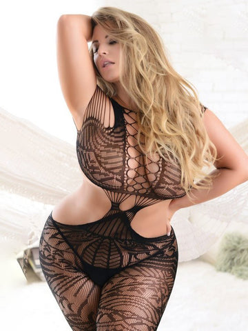 Together Again Plus Size Bodystocking