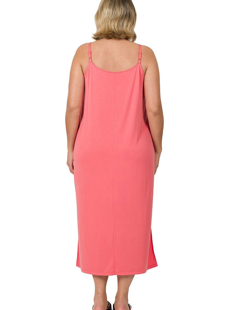 Tempo Plus Size Camo Dress with Pockets