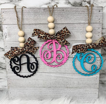 Load image into Gallery viewer, A- Z Monogram Initial Car Charm