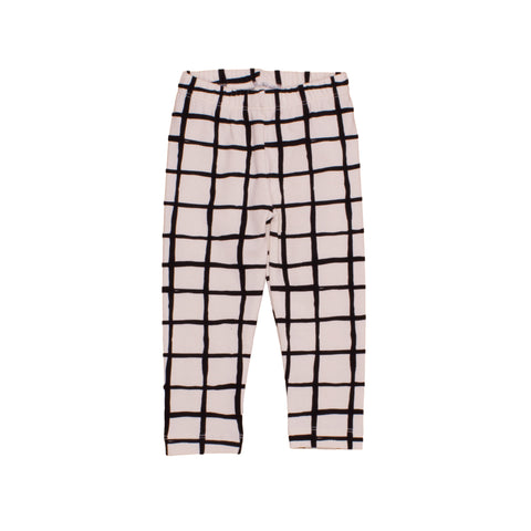Black Grid Unisex Leggings