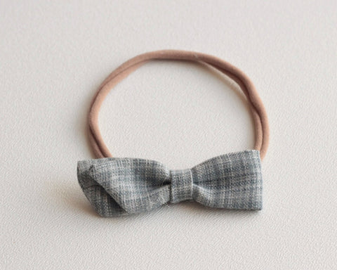 Blue Grain Simple Bow Headband