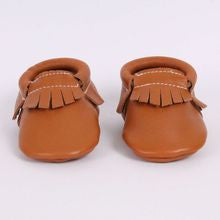 Butterscotch Tan Leather Moccasins
