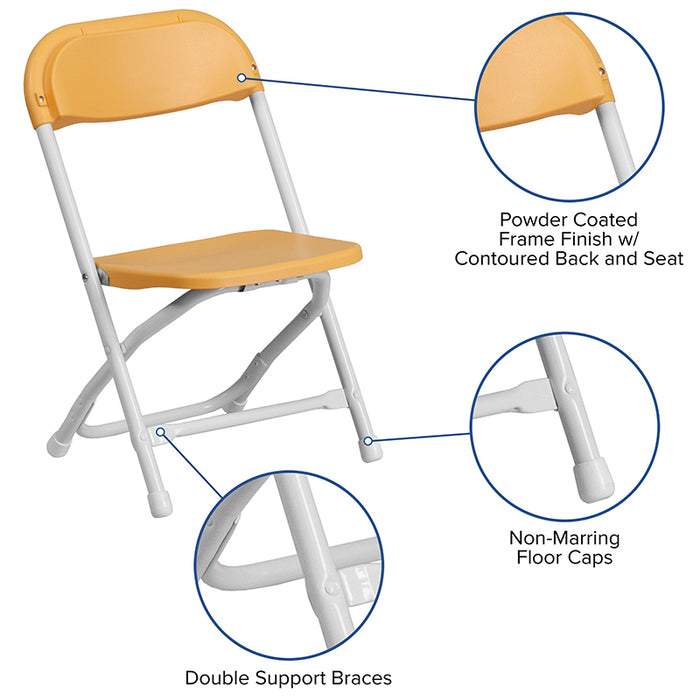 Atlanta Furniture Co. Kids Yellow Folding Chair