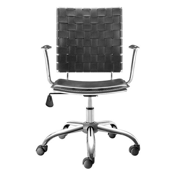 "HomeRoots Office 23"" X 23"" X 35"" Black Leatherette Office Chair"