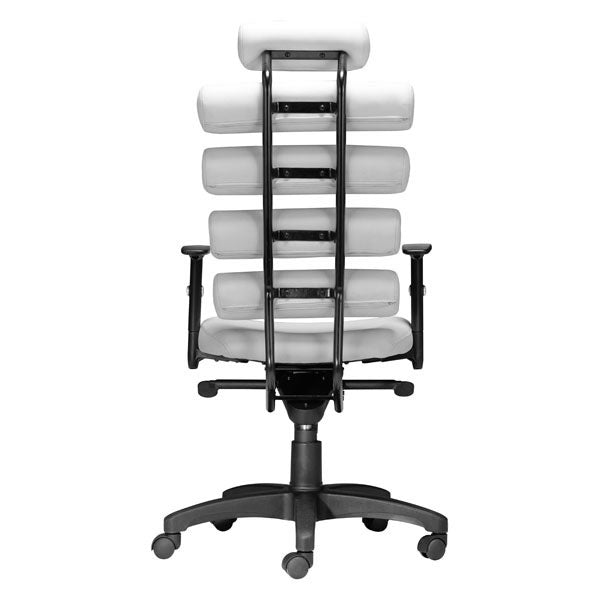 "HomeRoots Office 25"" X 23.5"" X 48.5"" White Leatherette Office Chair"