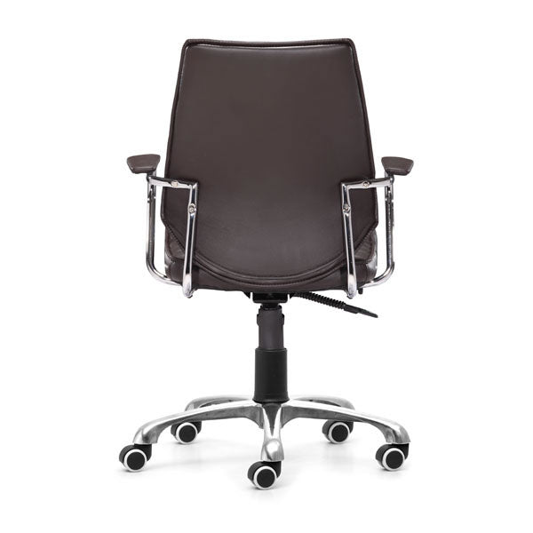 "HomeRoots Office 25"" X 23.5"" X 40.5"" Esp Leatherette Low Back Office Chair"