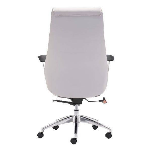 "HomeRoots Office 28.7"" X 29"" X 49"" White Leatherette Office Chair"