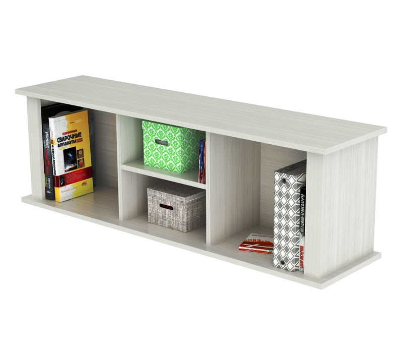 "HomeRoots Office 15"" White Melamine and Engineered Wood Wall Mounted Hutch"