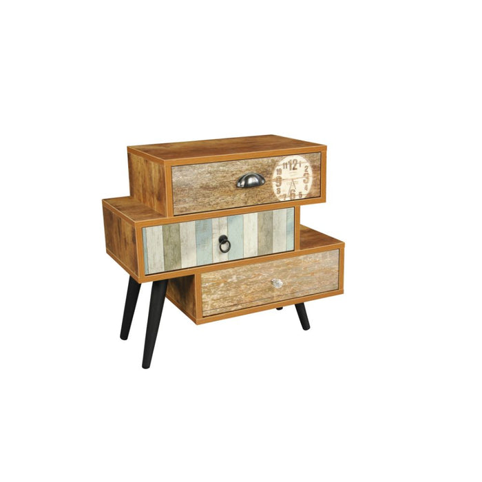 HomeRoots Office Antiqued 3 Drawer Mixen