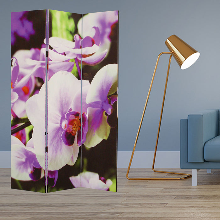 "HomeRoots 1"" x 48"" x 72"" Multi-Color, Wood, Canvas Orchid - Screen"