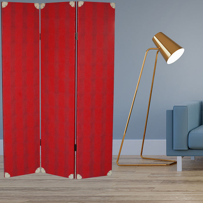 "HomeRoots 1"" x 47"" x 71"" Red Wood - Screen"