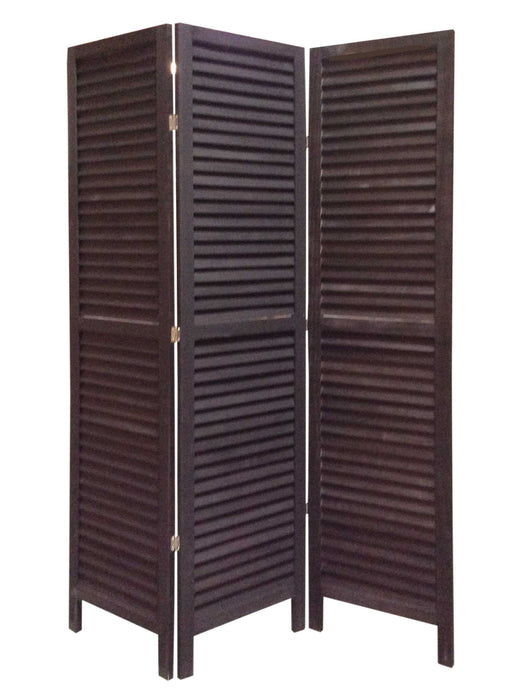 "HomeRoots 1"" x 48"" x 67"" Black, Wood, Shutter - Screen"