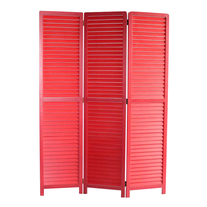 "HomeRoots 1"" x 47"" x 67"" Red, Wood - Screen"