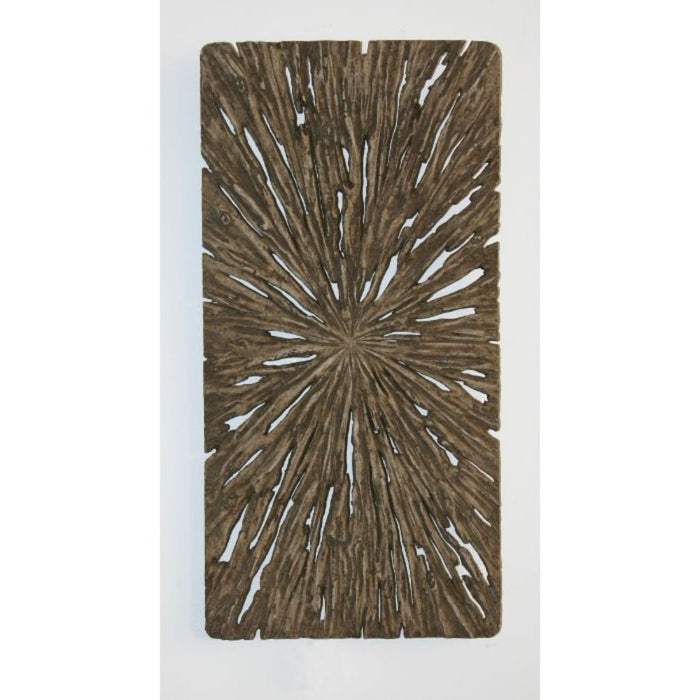 "HomeRoots 1"" x 12"" x 24"" Brown, Long Square, Rotten Wood - Wall Decor"