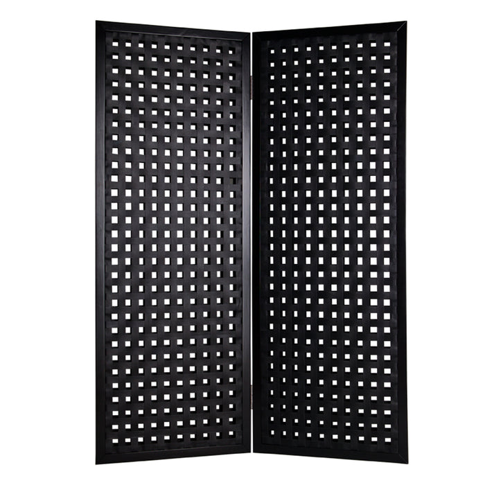 "HomeRoots 1"" x 55"" x 75"" Black, Faux-leather - Screen"