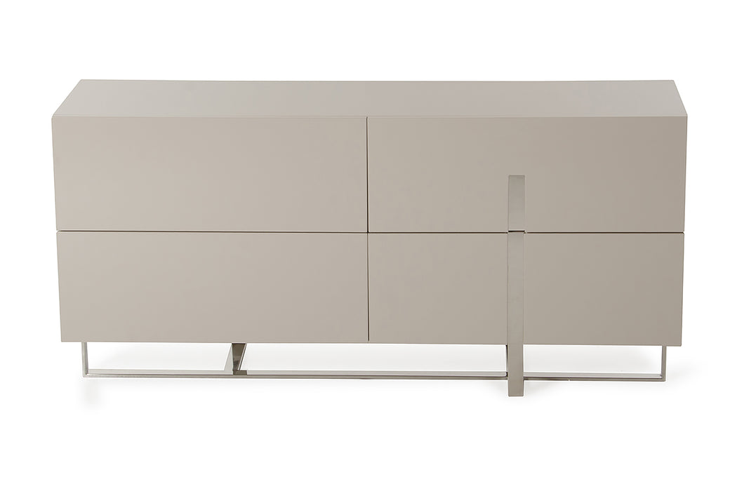 "HomeRoots Office 30"" Grey MDF and Steel Dresser"
