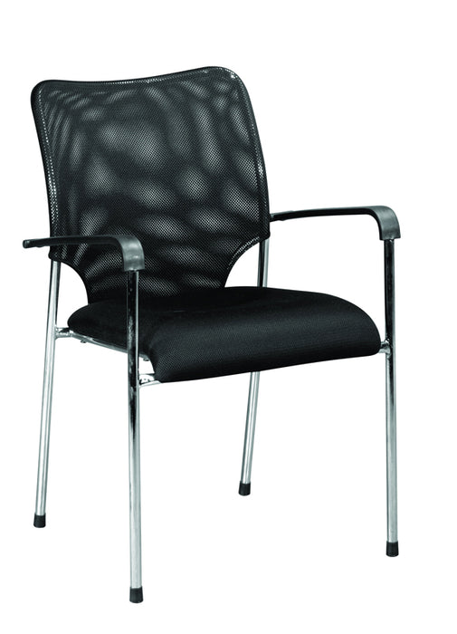 "HomeRoots Office Five 33"" Black Mesh and Steel Office Chairs"
