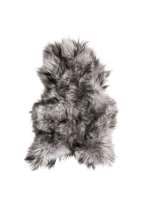 "HomeRoots 24"" x 36"" x 2"" Metallic Silver Sheepskin Single Long-Haired - Area Rug"
