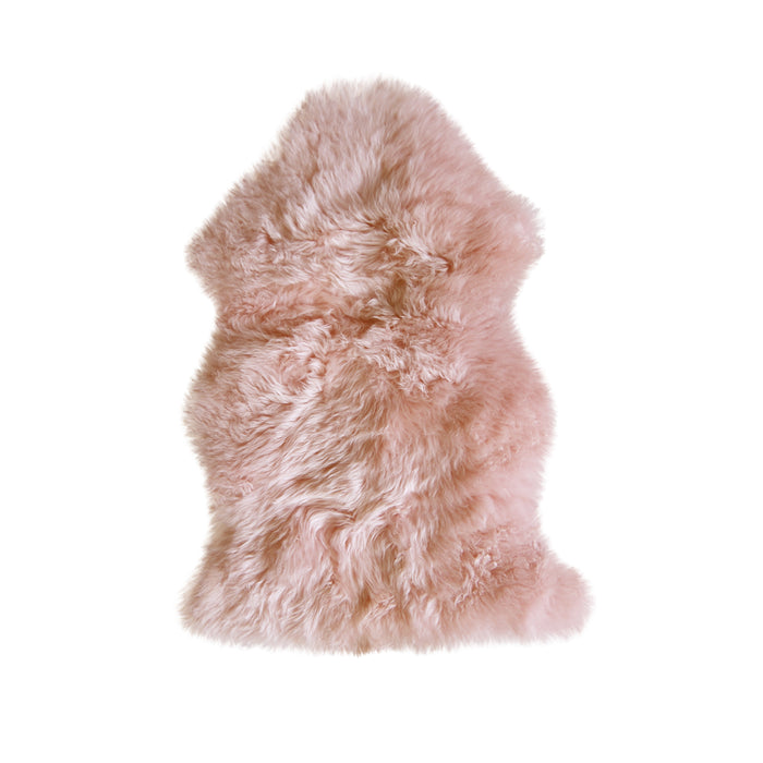 "HomeRoots 24"" x 36"" x 1.5"" Pink Single Sheepskin - Area Rug"