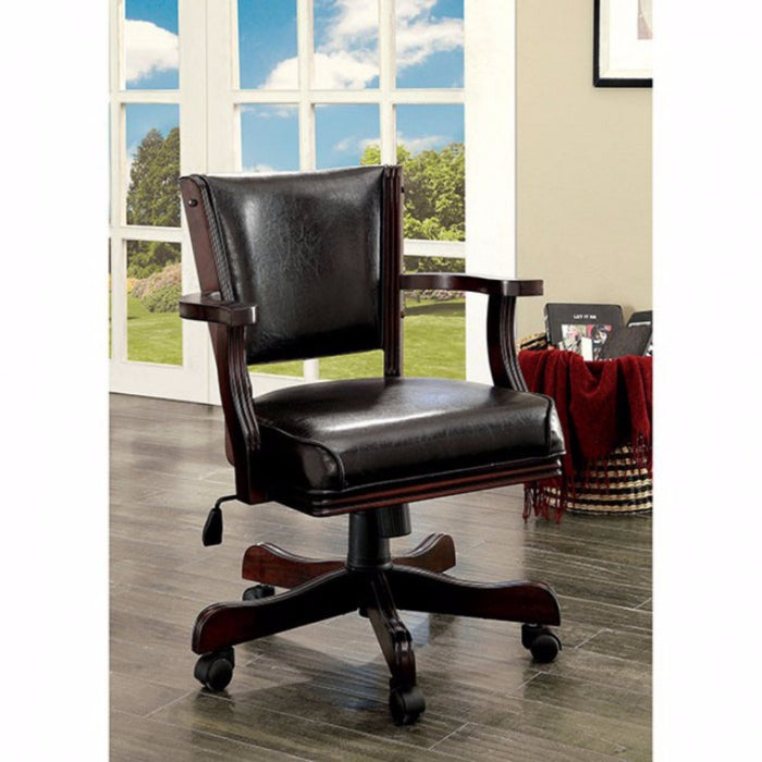 HomeRoots Office Contemporary Arm Chair, Dark Cherry Finish