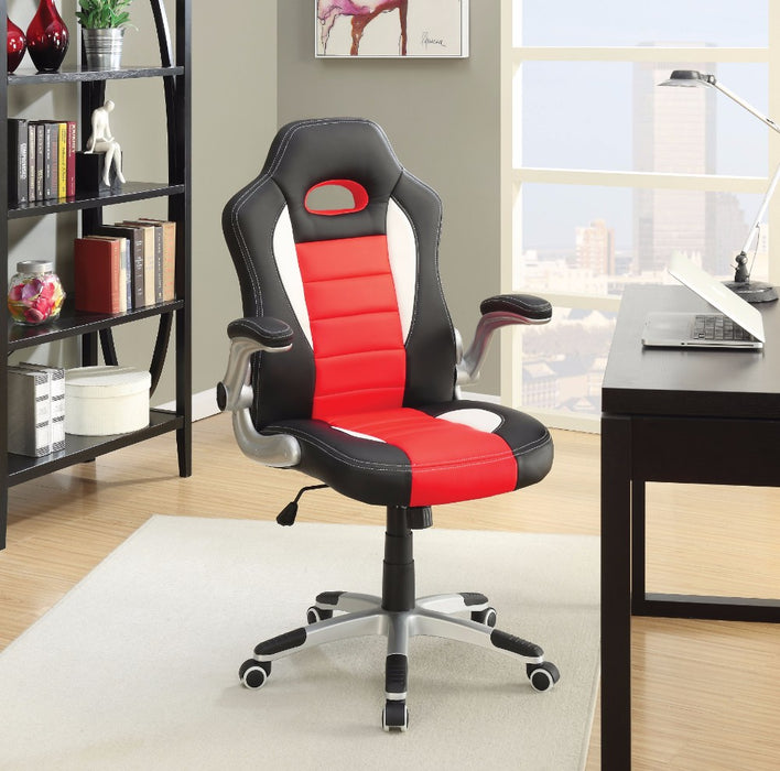 HomeRoots Office Office Chair, Black & Red