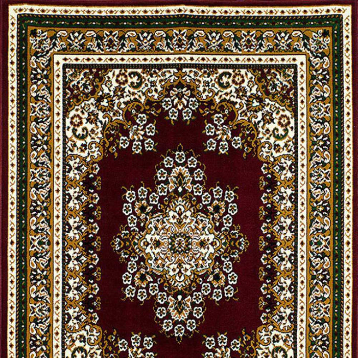 HomeRoots Contemporary Area Rug Burgundy