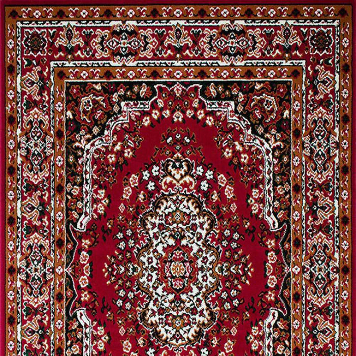 HomeRoots Contemporary Area Rug Red
