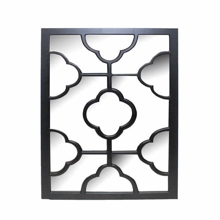 HomeRoots Elegantly Charmed Wooden Wall Decor, Black