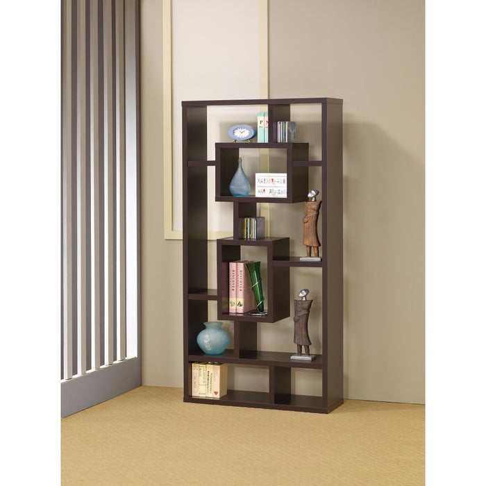 HomeRoots Office Aesthetic Fine Looking Rectangular bookcase, Brown
