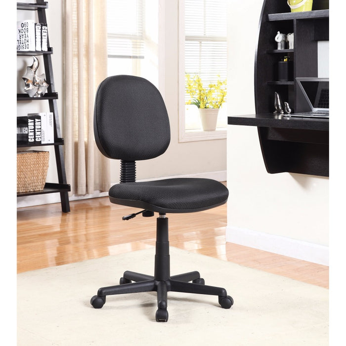 HomeRoots Office Medium Back Adjustable Office Chair, Black