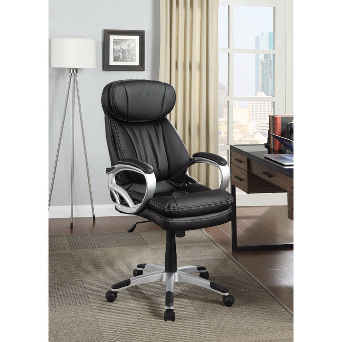 HomeRoots Office Leather, Executive-Style Office Chair, Black