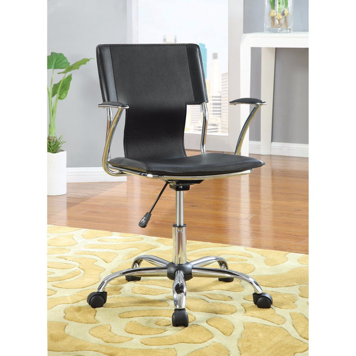 HomeRoots Office Modern Ergonomic Medium Back Executive  Office Chair, Black