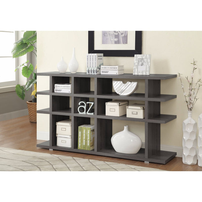 HomeRoots Office Contemporary Wooden Bookcase, Gray