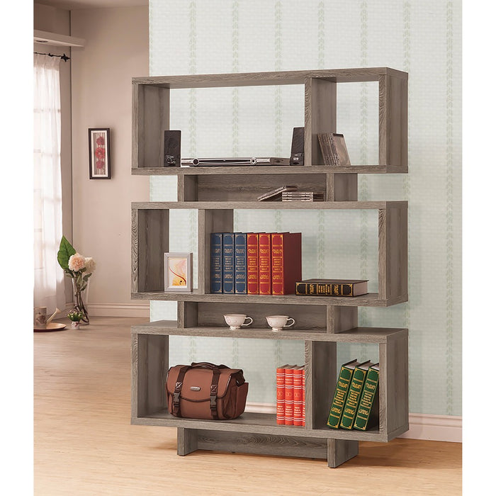 HomeRoots Office Well-made Contemporary Open Bookcase, Gray