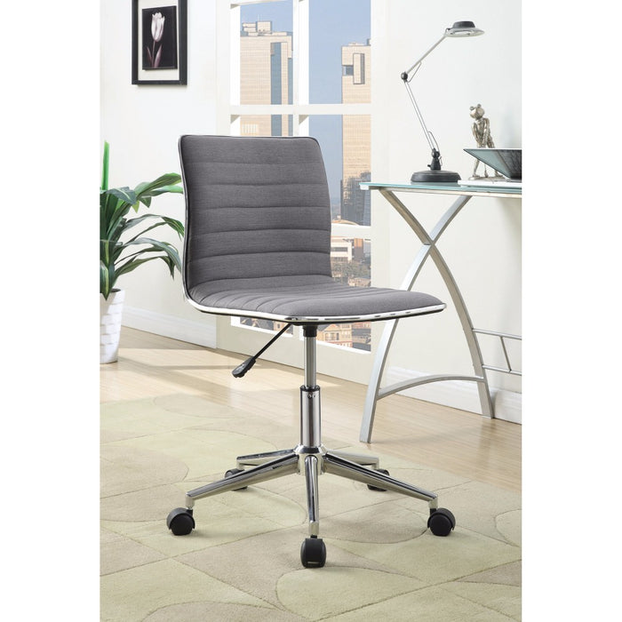 HomeRoots Office Contemporary Mid-Back Desk Chair, Gray