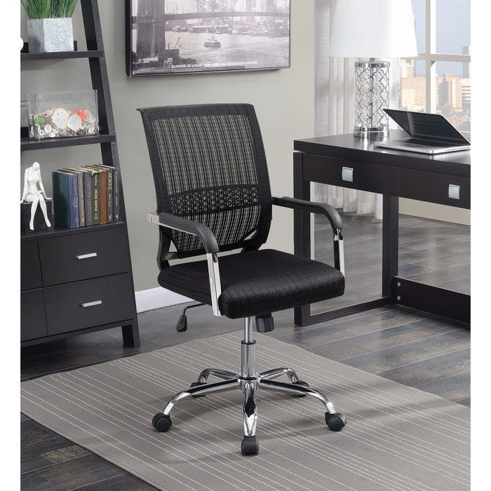HomeRoots Office Designer Mesh Operator Office Chair, Black
