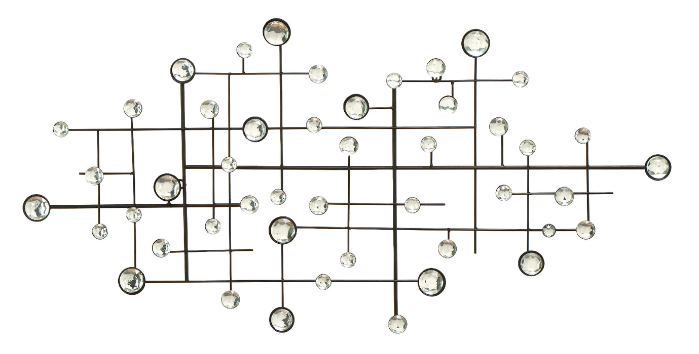 HomeRoots Metal/Glass Bead Wall Decor Designed Exclusively