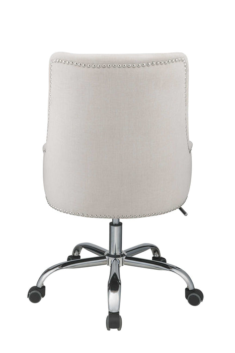 "HomeRoots Office 24"" X 26"" X 38"" Beige Plywood Office Chair"