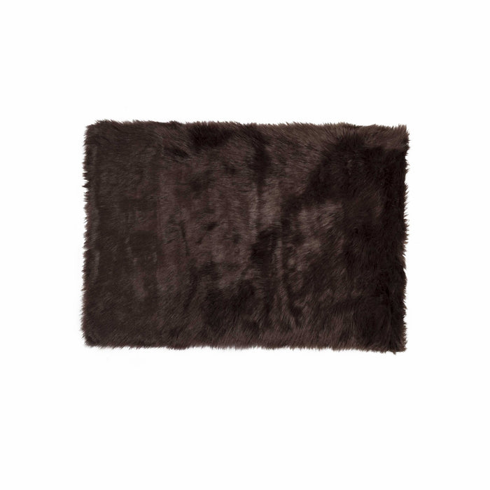 "HomeRoots 36"" x 60"" Chocolate, Sheepskin - Rug/Throw"