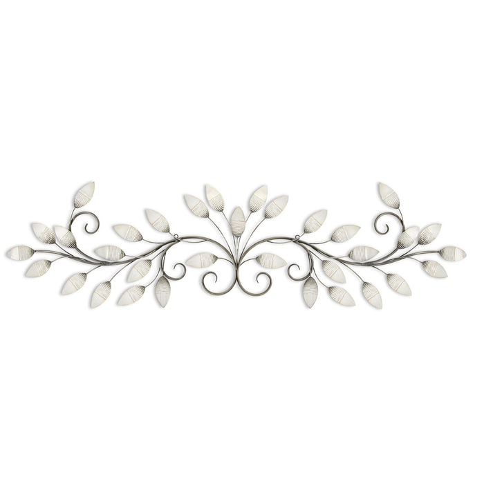 "HomeRoots 51"" X 1"" X 15"" White Brushed Pearl Over The Door Wall Decor"