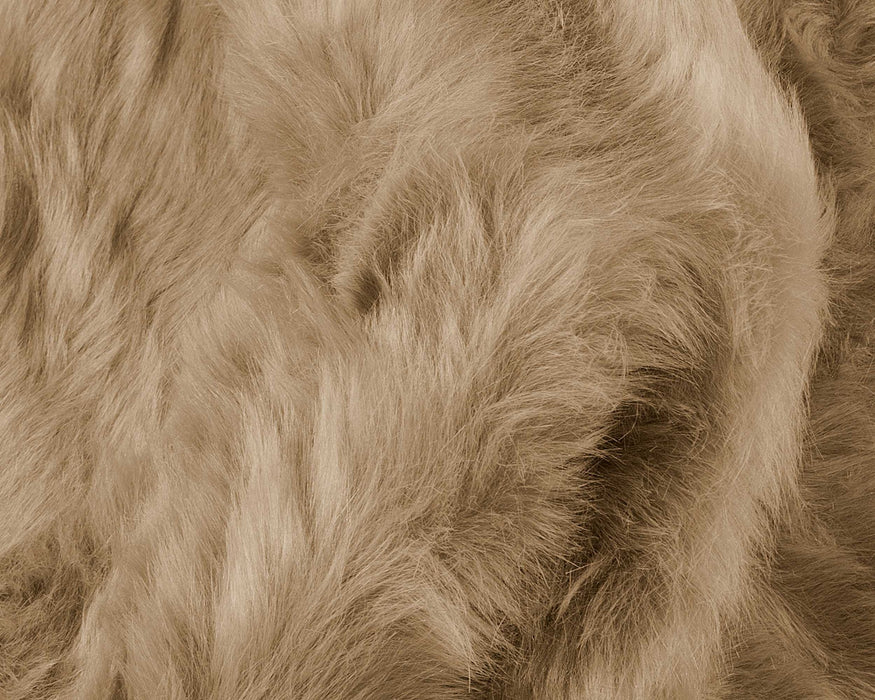 "HomeRoots 24"" x 72"" x 1.5"" Tan, Faux Sheepskin - Rug"