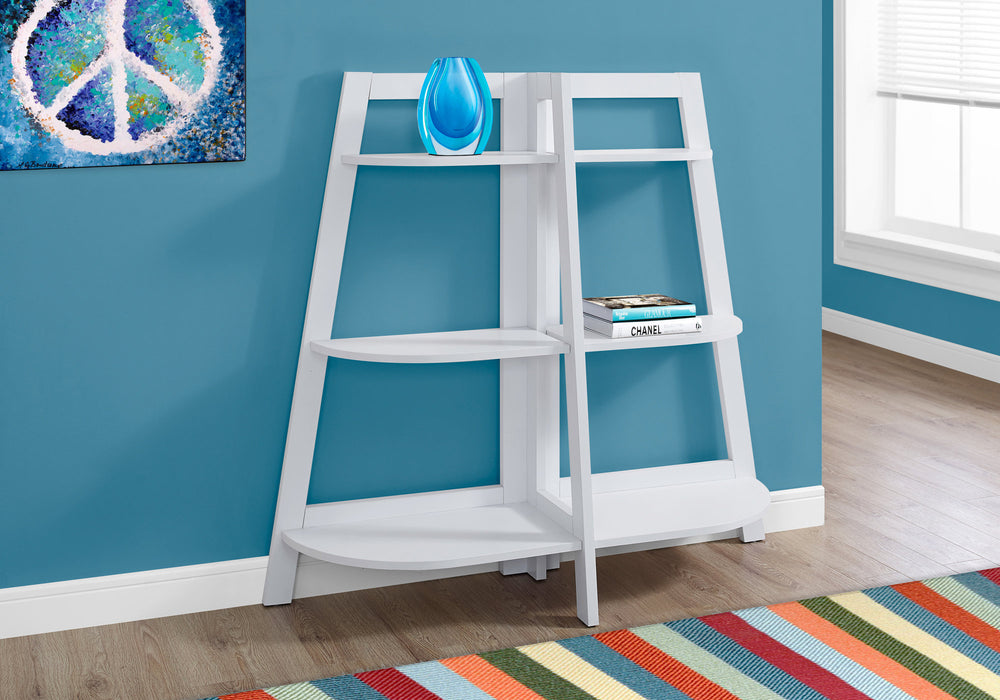 "HomeRoots Office 15.5"" x 51"" x 47"" White, Particle Board - Bookcase - Accent Shelf"