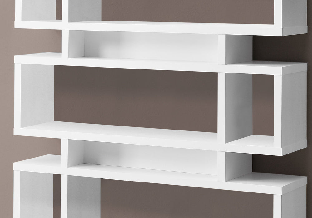 "HomeRoots Office 12"" x 47'.25"" x 54'.75"" White, Particle Board, Hollow-Core - Bookcase"