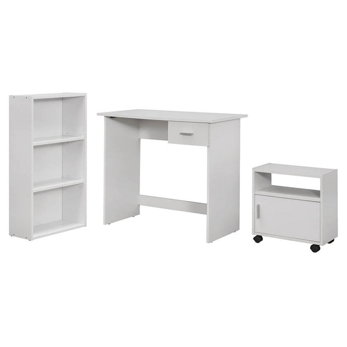 "HomeRoots Office 30"" White Particle Board and Laminate Computer Desk"