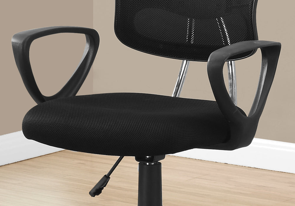 "HomeRoots Office 21'.5"" x 23"" x 33"" Black, Foam, Metal, Polypropylene, Polyester - Office Chair"