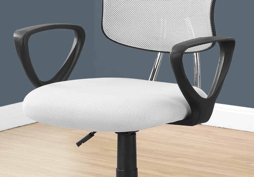 "HomeRoots Office 21'.5"" x 23"" x 33"" White, Foam, Metal, Polypropylene, Polyester - Office Chair"