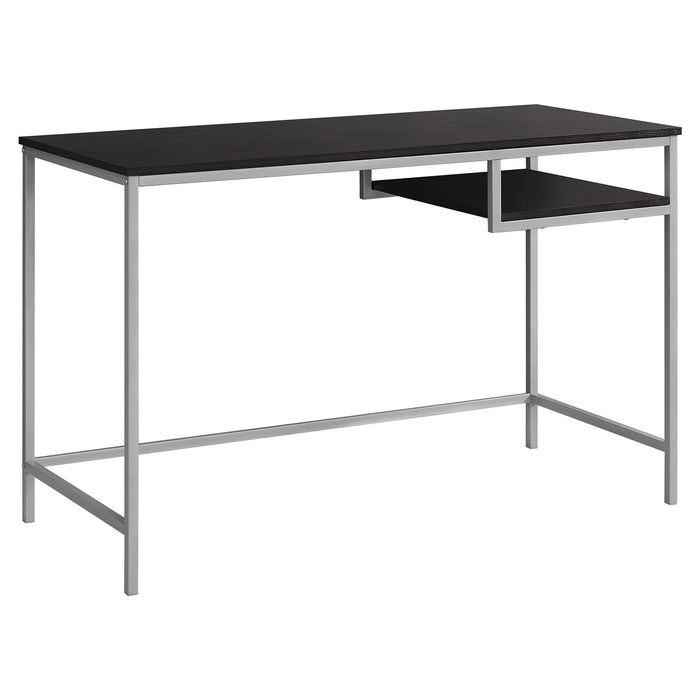 "HomeRoots Office 30"" MDF and Silver Metal Computer Desk"
