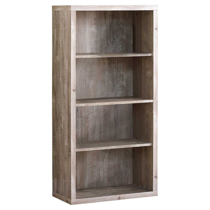 "HomeRoots Office 11'.75"" x 23'.75"" x 47'.5"" Taupe, Particle Board, Adjustable Shelves - Bookshelf"