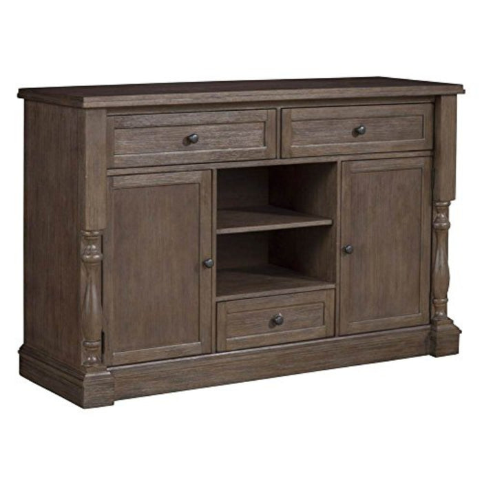 HomeRoots Office Wooden Sideboard In Quaint Style With Drawers Brown